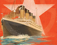 Titanic book cover | illo: Stuart, vector: Maj