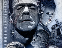 Editorial Illustration: Classic Horror Movies