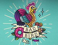 Роспись стены для тату студии Bad Bird