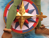 Peter Pan paper sculpture