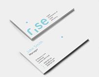 RISE logo design