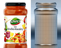 Łowicz - sauce packshot 3d