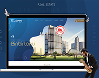 Real Estate Evora Web UI&UX Design Building Project