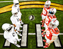 NIKE National Champion Oregon and Ohio State  Coin Toss