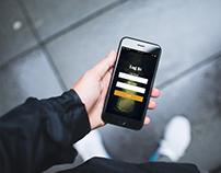 iphone log in screen