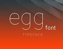 egg font TYPEFACE