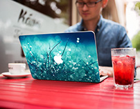 Street Cafe MacBook Cover Mockup