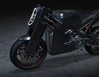 Ducati monster Custom bike BIG FOOT