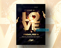 Valentines Day | Night Of Love Flyer