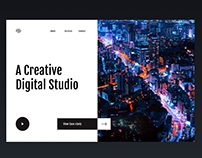 Creative Digital Studio web Design Exploration