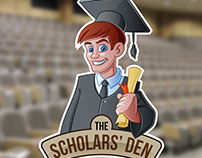 The Scholars' Den Mascot Logo