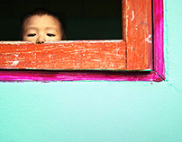 Mae Sot. Thailand 2014. Though the child eye's