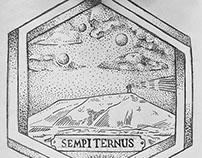 Diseño para tatuaje Cerro 3 lunas