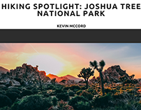 Kevin McCord on Joshua Tree National Park