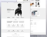 Brendon - Minimal Personal Blog Portfolio PSD Template