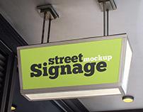 Free Street Signage Mockup