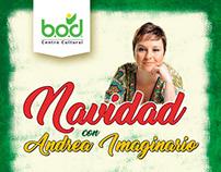Afiche Promocional para Andrea Imaginario en concierto