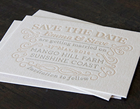 Save The Date Invitations - Emma and Steve