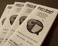 Jim's Bagel & Bake Shoppe trifold brochure