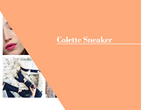 Colette sneaker x Dept of Finery