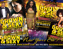 Grown And Sexy New Yea'r Eve 2016 Flyer Design