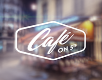 Café on 5th branding