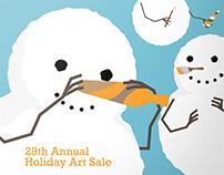 SAIC Holiday Art Sale Identity Design