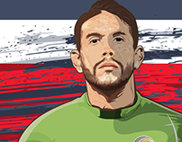 Player portraits for #MIFA World Cup 2018 project.