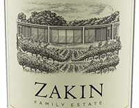 Zakin Family Estate Label Illustrated by Steven Noble