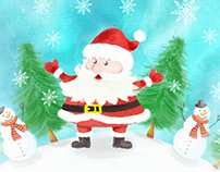 Free Watercolor Christmas vector Illustrations