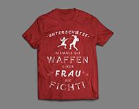 "German Language ""Fencing Sport"" T-shirt Design"