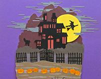 Halloween paper art