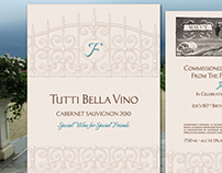 Tutti Bella Vino Wine Label Design