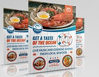 Seafood Restaurant Flyer Template Vol.2