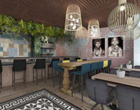 Bar in Athens | 3D Visualization
