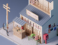 Japanese Restaurant - low poly