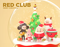 RED CLUB MERRY CHRISTMAS