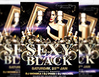 Sexy Black - Premium Flyer Template + Facebook Cover