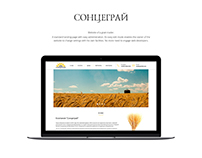 Landing-page of the grain trader