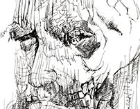 The Wrinkled Man - Pen Art