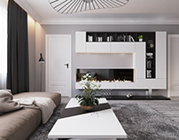 Interior design living residential house S.G. Belgium