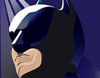 Batman created in Adobe Illustrator