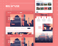 BigHouse real estate website User interface
