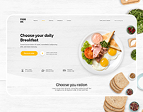 Food Delivery Landing page [ Concept 2019 v2 ]