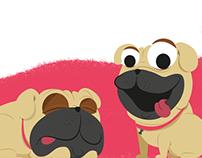 Ilustrações Pet Park e Pet Friendly.