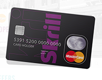 Skrill card / master card offer page