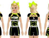 Dye Sublimated Practice Wear Designs (GlitterStarz)