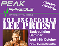 Bodybuilding seminar poster series (Peak Physique)