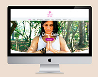 YOGA ATÉ VOCÊ Criação do logo, identidade visual e site