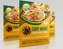 Indian Restaurant Flyer Template